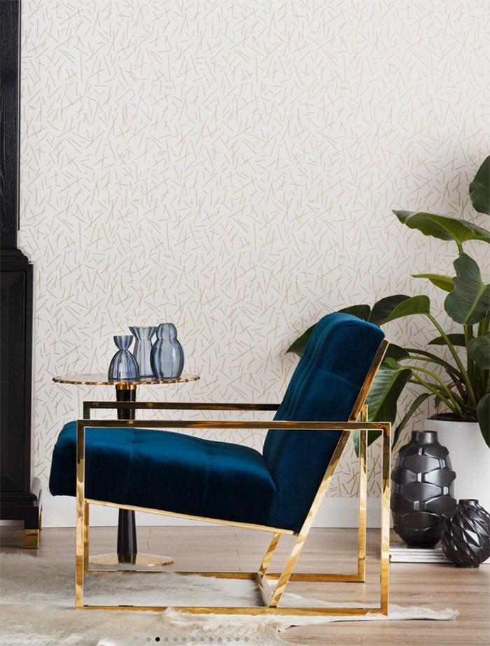 Stunning teal velvet chair