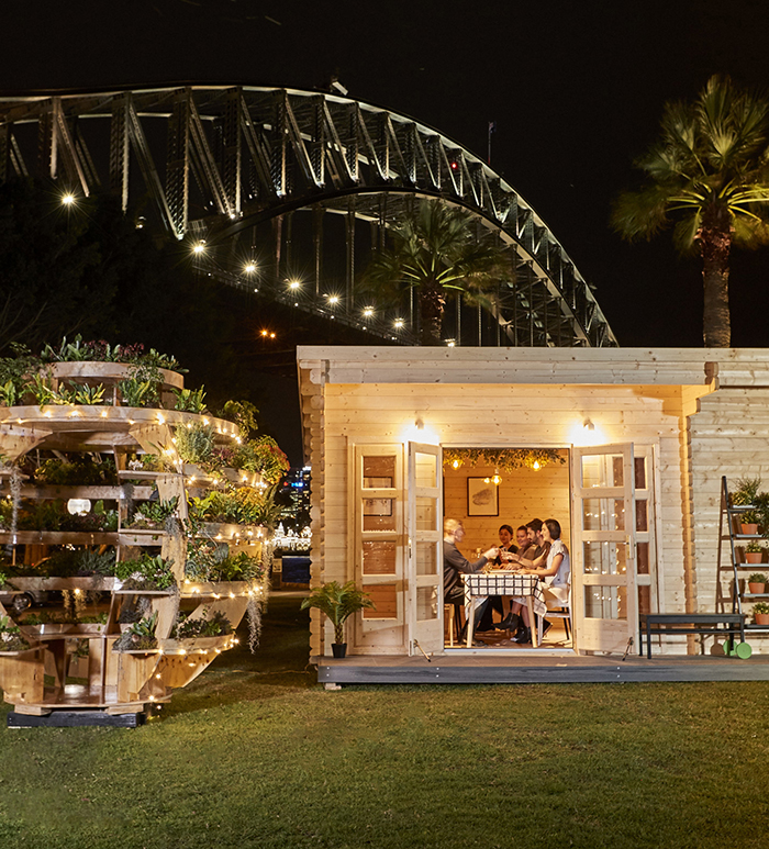 IKEA Growroom under the Sydney Harbour Bridge