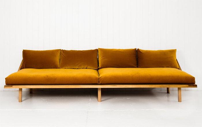 Pop and Scott reinventing the 70s velvet sofa