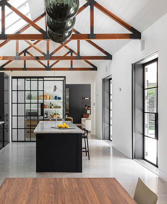 love the exposed beams in this Sydney home