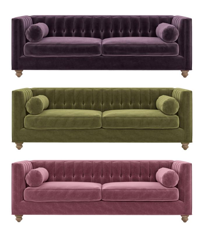 Velvet sofa love