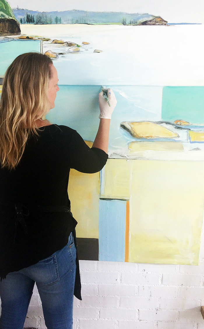 Amanda Tye paints the Australian coastline
