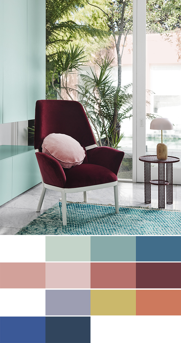 2018 Interiors Colour Trends   Escapade Palette