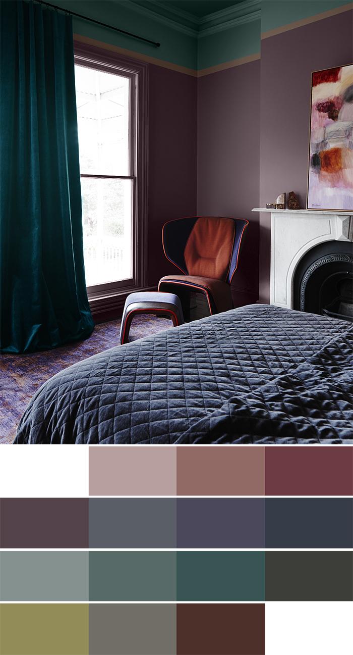2018 interiors colour trends - Reflect palette