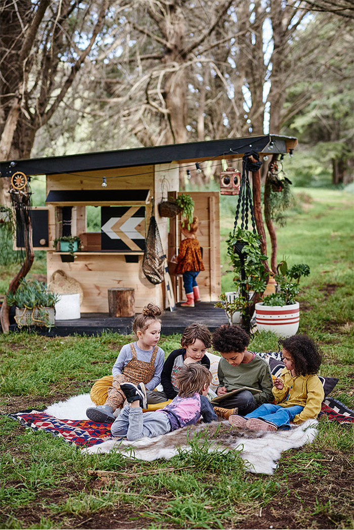 the best designer wooden cubby house
