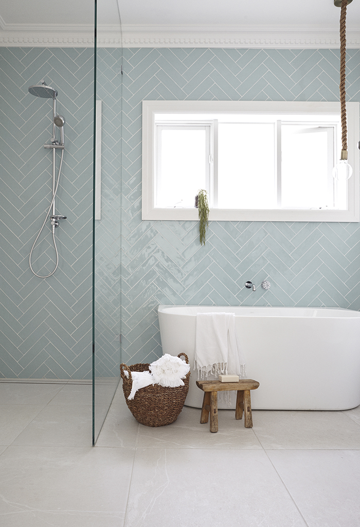 Love the soft colour of these tiles!