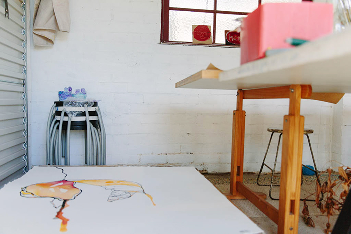 the studio of sydney based artist Fiona Chandler