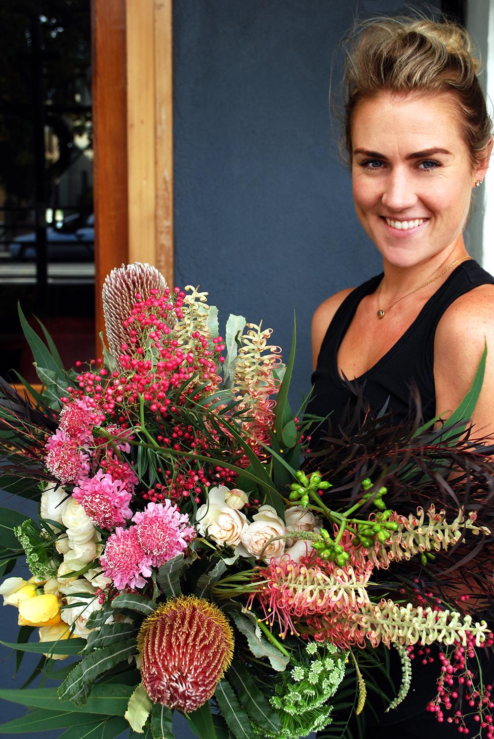 Autumn flowers wit Pamela of Jodie McGregor Flowrs