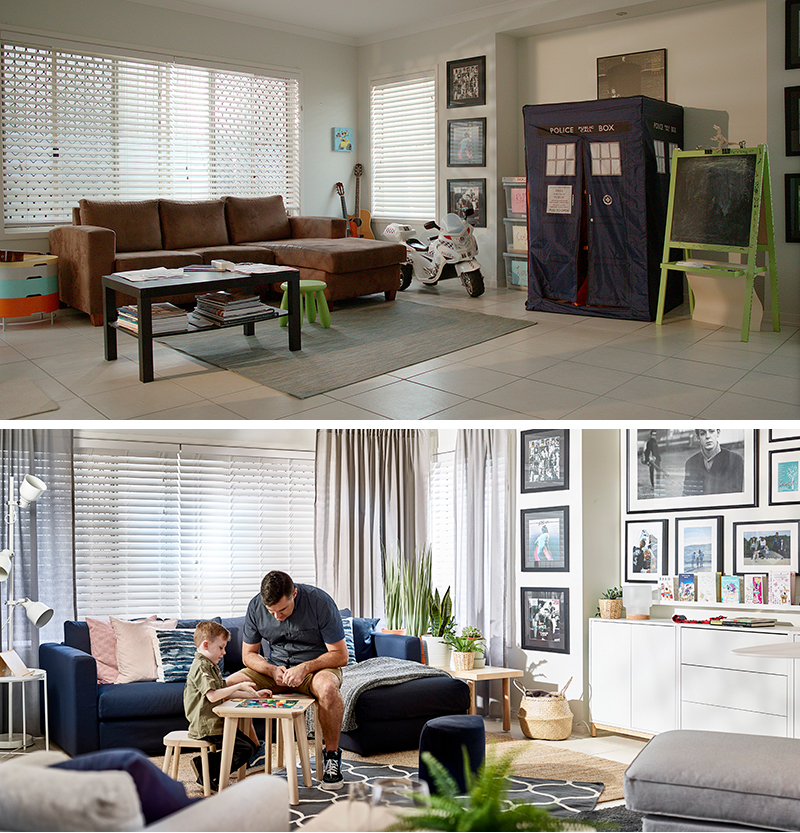 IKEA + You - real family's room makeover. Before and after