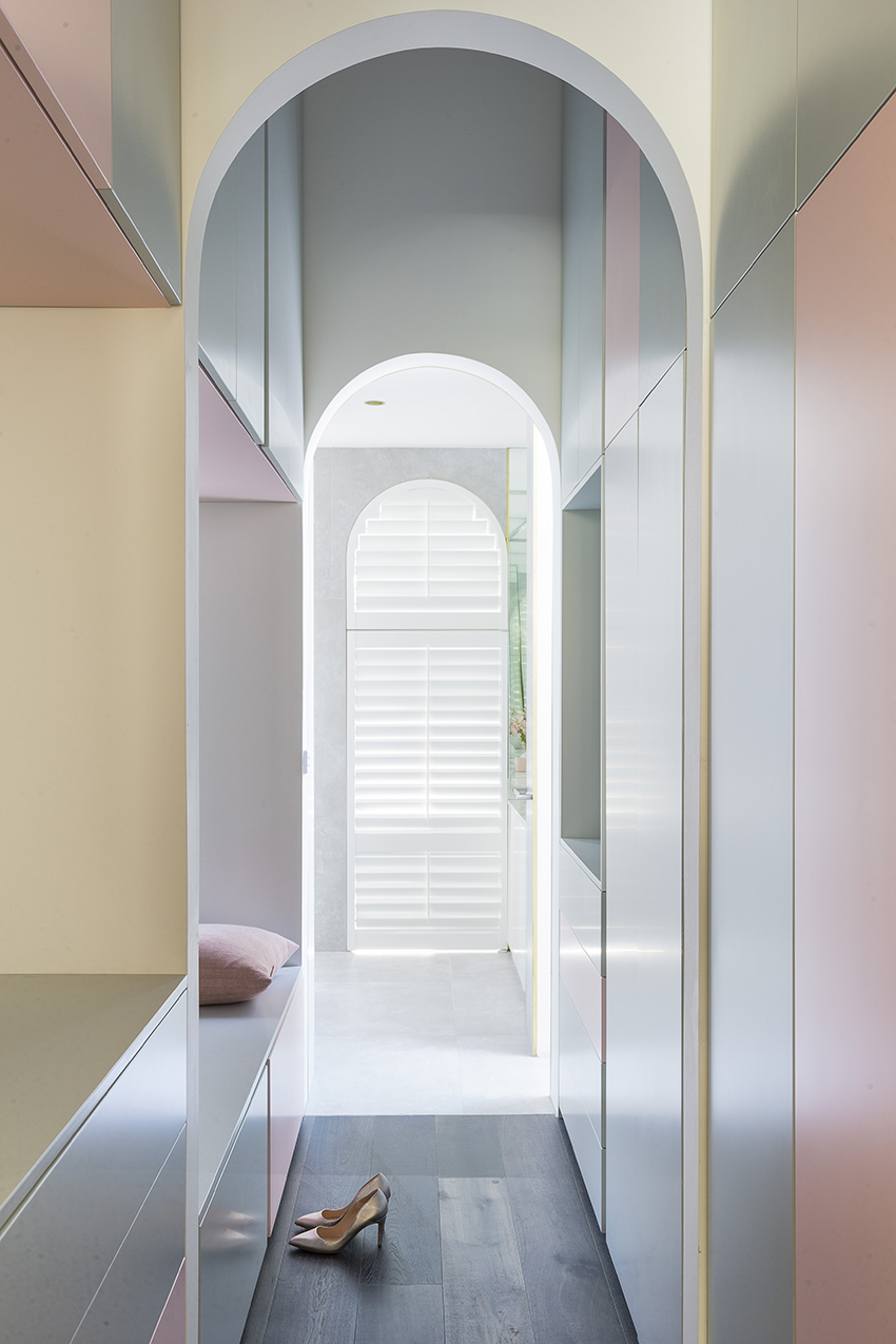 The soft pastel interior of this Victorian cottage by Bagnoli Architects won the Dulux Colour Award 2018. Photo © Ari Hatzis