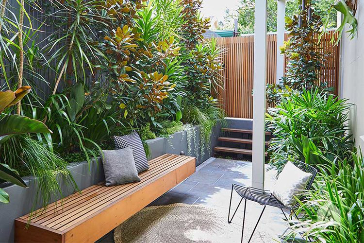 This tiny inner city front garden was designed by Adam Robinson Design to feel like a welcoming oasis.