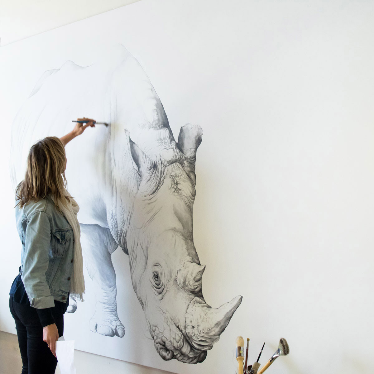 Sydney based artist Jaimee Paul documents her love of and connection with animals