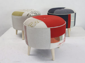 Atomic Ottoman Kit from furnish.ed - furniture designer and maker Maaike Pullar of studioMAAIKE