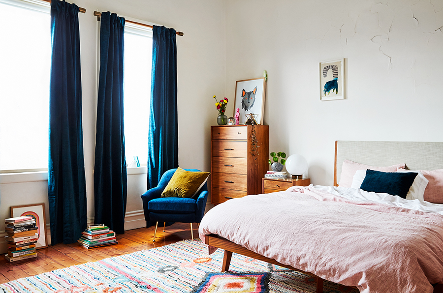 Beci Orpin's bedroom makeover by West Elm