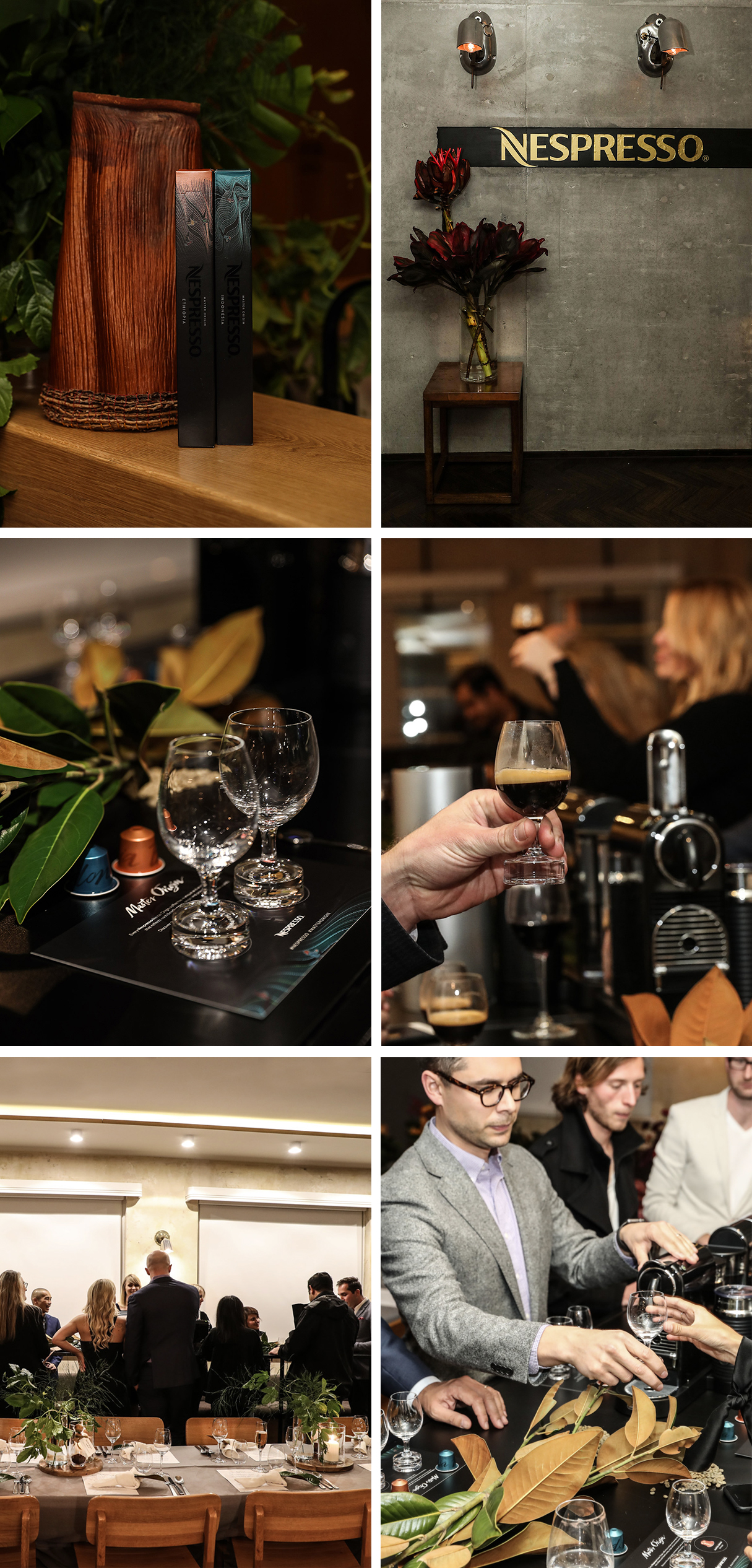 Nespresso Master Origins coffee launch dinner