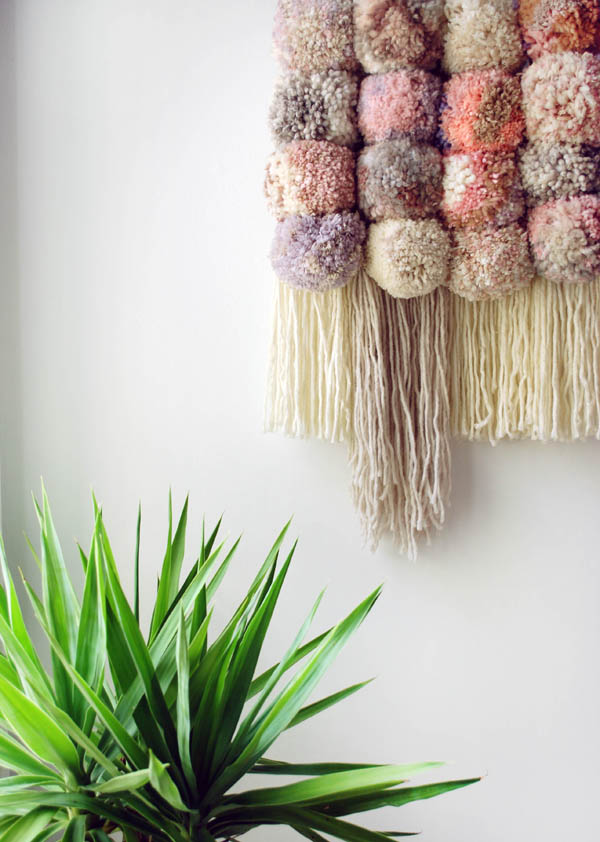 Tutorial Make A Pom Pom Wall Hanging We Are Scout