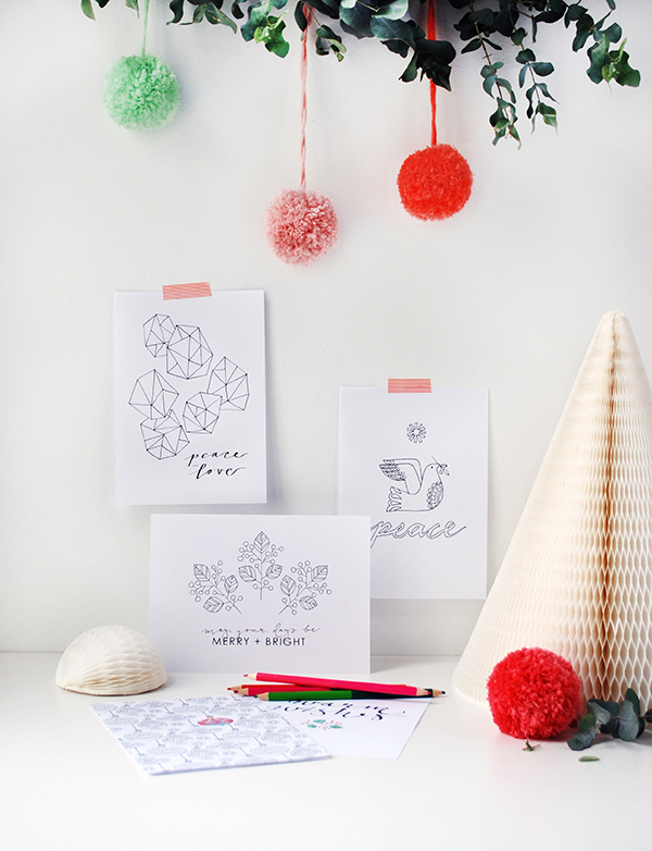 Free Colouring Christmas Cards Print Out These Coloring Pages